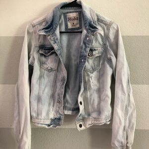 Distressed and Bleached Jean Jacket